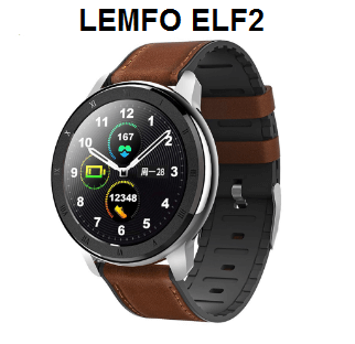 LEMFO ELF2 Full Round Touch HD Screen Wristband