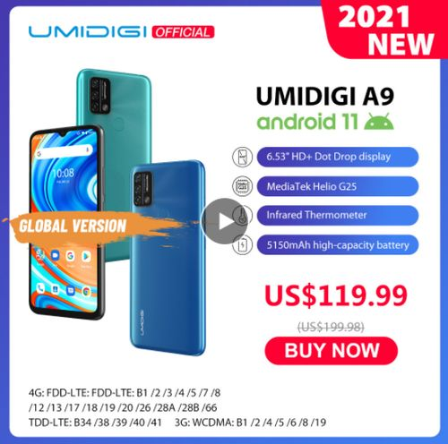 UMIDIGI A9 Android 11 Global Version - Aliexpress